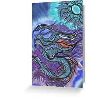 Ladder Dragon of the Soul Star Greeting Card