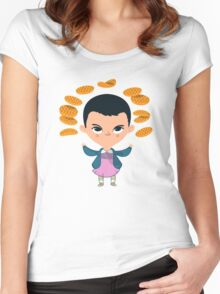 Eleven Waffles Women's Fitted Scoop T-Shirt
