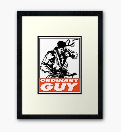 Ryu Ordinary Guy Obey Design Framed Print