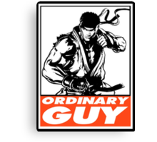 Ryu Ordinary Guy Obey Design Canvas Print