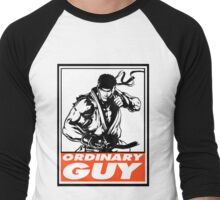Ryu Ordinary Guy Obey Design Men's Baseball ¾ T-Shirt