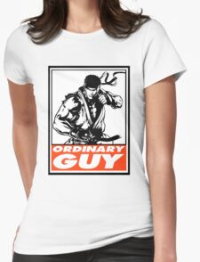 Ryu Ordinary Guy Obey Design Womens Fitted T-Shirt
