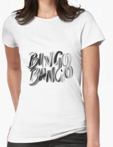Bingo Bango Slogan Hipster Funny Art Typography Womens Fitted T-Shirt