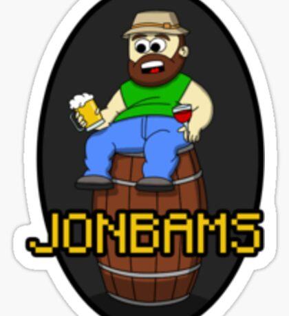 JonBams the alcoholic Sticker