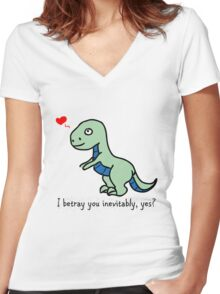 D'awww Inevitable Betrayal Women's Fitted V-Neck T-Shirt