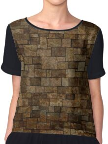 Stained Stone Wall Chiffon Top