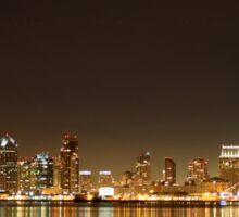 San Diego Skyline Night Sticker