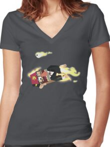 Ave Maria - Gravity Falls Women's Fitted V-Neck T-Shirt