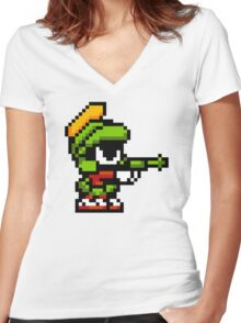 Funny pixel Women's Fitted V-Neck T-Shirt