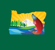 Scenic State of Oregon Map Outline Unisex T-Shirt