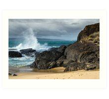 Surf At Spiky Beach Art Print