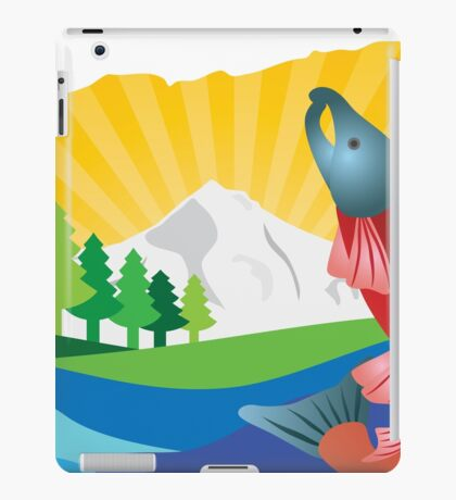 Scenic State of Oregon Map Outline iPad Case/Skin