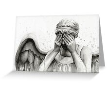 Doctor Who Weeping Angel - Don't Blink! Greeting Card