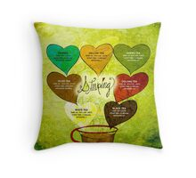 What my #Tea says to me - February 12, 2014 Throw Pillow
