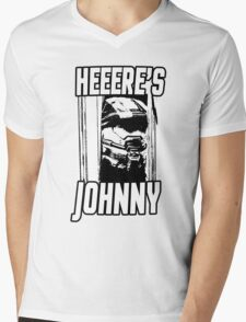 Heeere's Johnny - HALO Spartan 117 Mens V-Neck T-Shirt