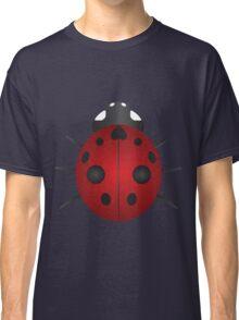 Red Ladybug Color Illustration Classic T-Shirt