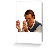 Hal Holding Jars Greeting Card
