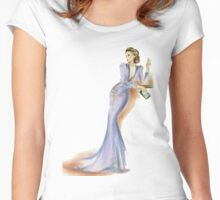 Lady in Lilac Women's Fitted Scoop T-Shirt