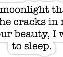 Moonlight, a poem by @bonewrites Sticker