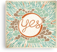 Yes Canvas Print