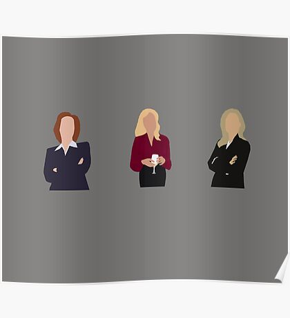 Gillian Anderson - TV Characters // Minimalist Poster