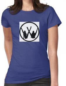 VW leg girls black design Womens Fitted T-Shirt