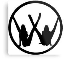 VW leg girls black design Metal Print