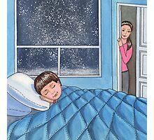 Sleeping Boy Baby Room Art Photographic Print