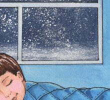 Sleeping Boy Baby Room Art Sticker