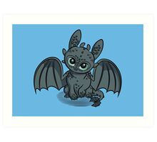 How to Train Your Baby Dragon Art Print