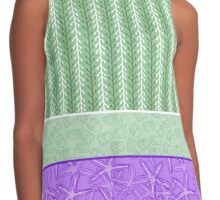 Green kelp with purple starfish and periwinkle shells Contrast Tank