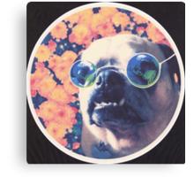 The Grooviest Pug on Earth Canvas Print