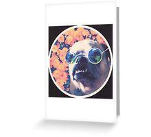 The Grooviest Pug on Earth Greeting Card