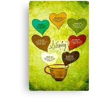 What my #Tea says to me - February 12, 2014 Poster Canvas Print