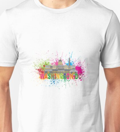 Washington DC Paint Splatter Unisex T-Shirt