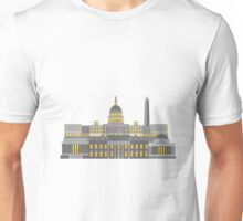 Washington DC Monuments and Landmarks Illustration Unisex T-Shirt