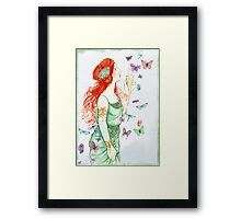 Beautiful Girl with butterflies Framed Print