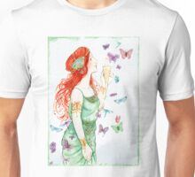 Beautiful Girl with butterflies Unisex T-Shirt