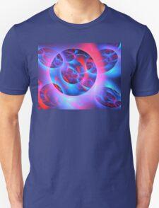 Red Blue Wheels Unisex T-Shirt