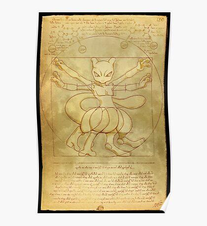 Vitruvian Monster Poster