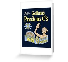 Gollum's Precious O's Greeting Card