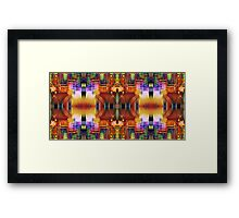 Compressed Frequency Framed Print