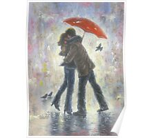 KISS IN THE RAIN Poster