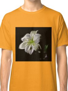 White shiny Flower Classic T-Shirt
