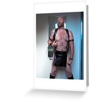 TROY - Leather Kilted Dreams Greeting Card