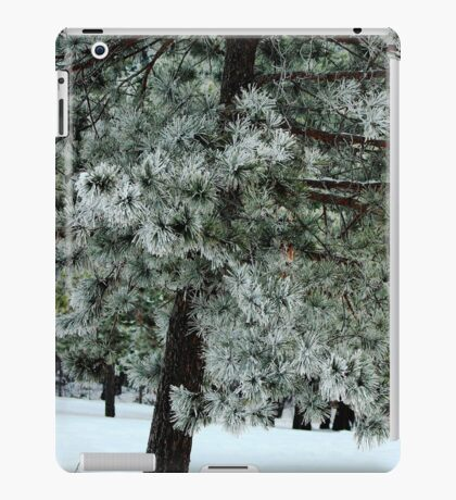 Frosted Pine dedicated to finding winter beauty iPad Case/Skin