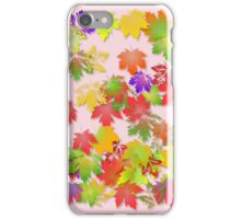 Falling maple leaves iPhone Case/Skin