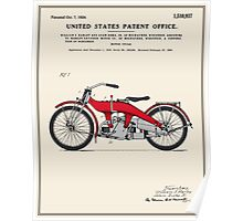 Motorcycle Patent - Colour Poster