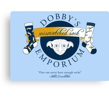 Dobby's Mismatched Sock Emporium Canvas Print