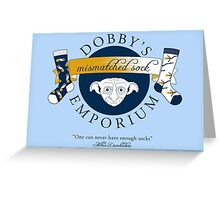 Dobby's Mismatched Sock Emporium Greeting Card